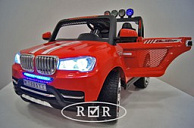 Фото: Электромобиль детский RiverToys BMW T005TT с дистанционным управлением (красный)